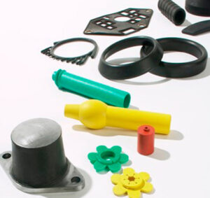 Vulcanized rubber with color