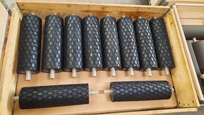 Gummibelægning på valser og trækruller